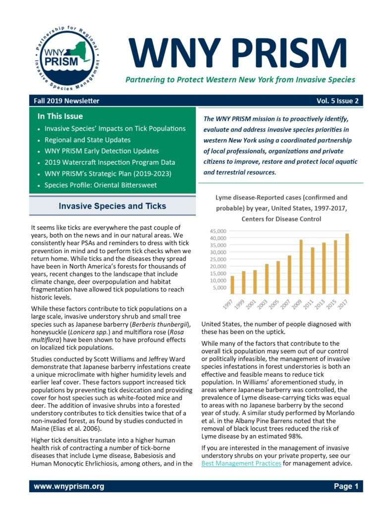 WNY PRISM Fall 2019 Newsletter